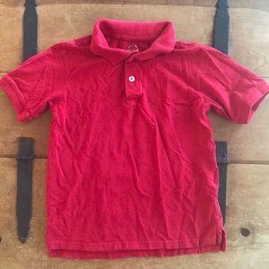 Faded Glory Boys Red Uniform Polo Shirt